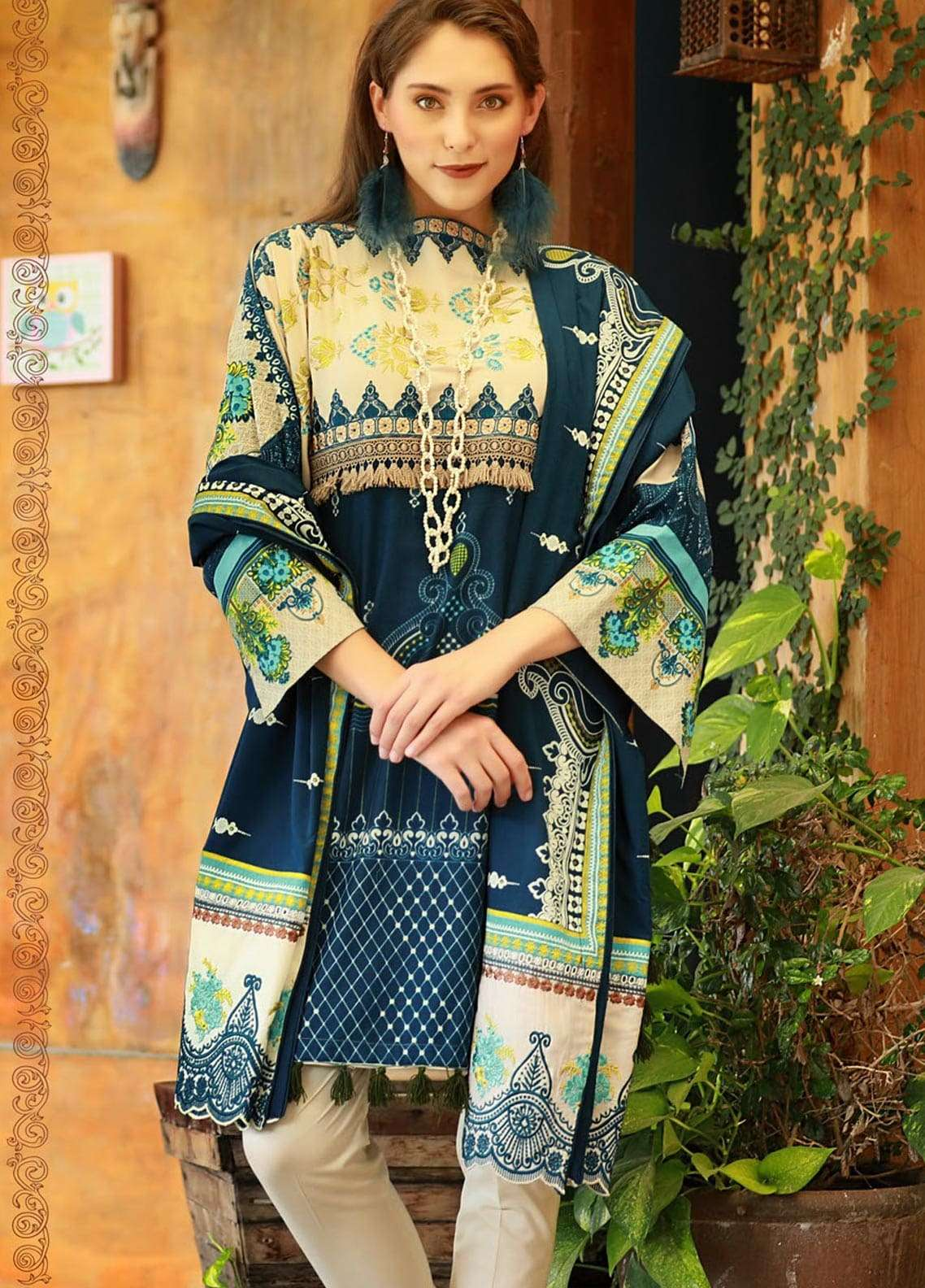 Lakhany Embroidered Viscose Unstitched 3 Piece Suit LSM18MP 9901B - Formal Collection