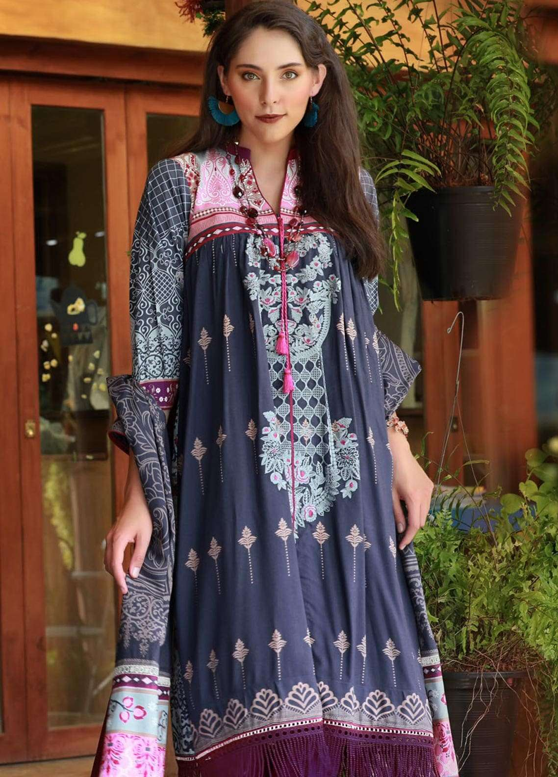 Lakhany Embroidered Viscose Unstitched 3 Piece Suit LSM18MP 9902A - Formal Collection