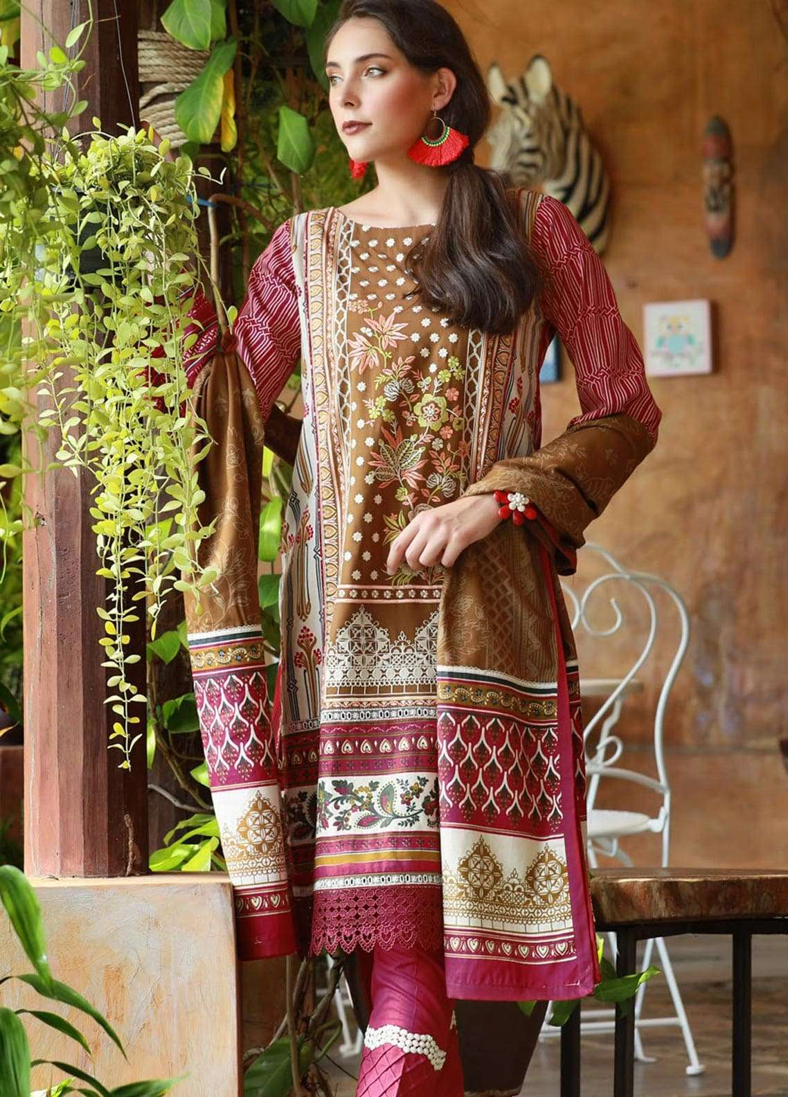 Lakhany Embroidered Viscose Unstitched 3 Piece Suit LSM18MP 9903A - Formal Collection