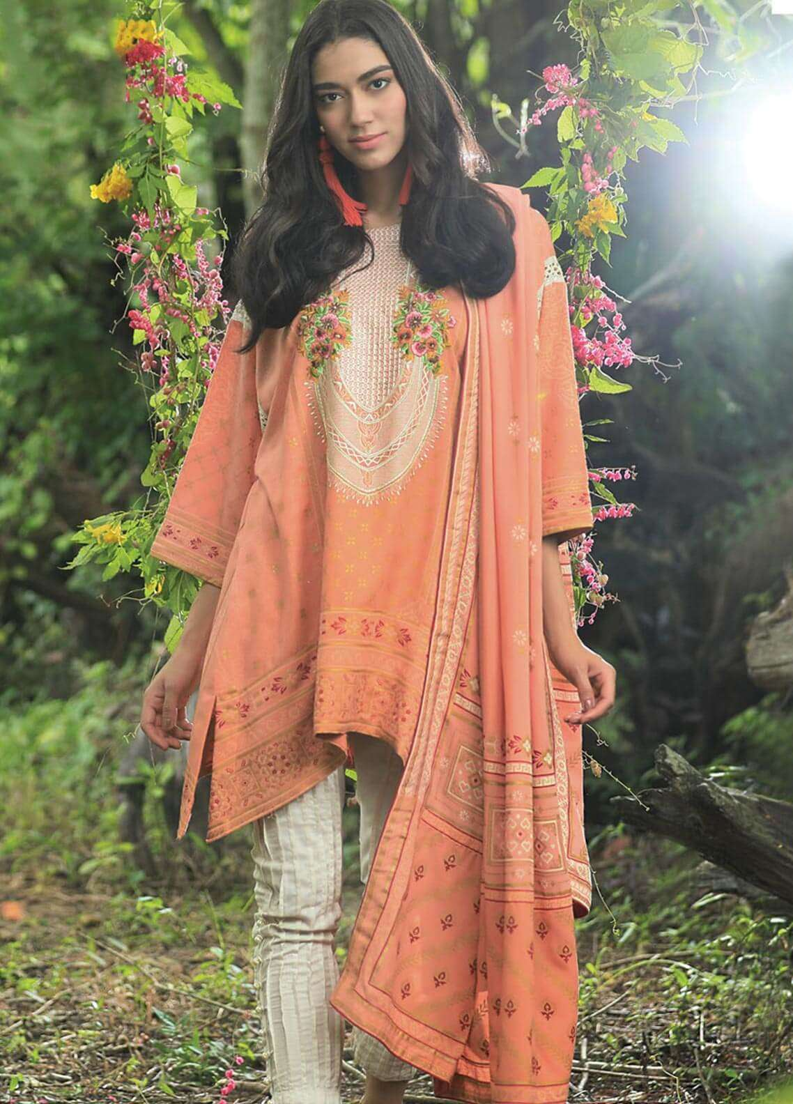 Lakhany Embroidered Khaddar Unstitched 3 Piece Suit LSM18P 991 - Winter Collection
