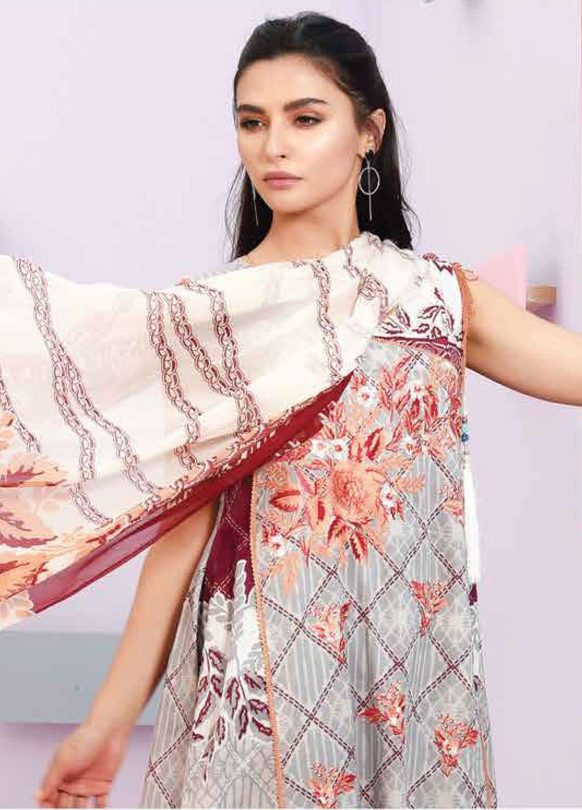 Lakhany Embroidered Lawn Unstitched 3 Piece Suit LSM19SBL 310A - Spring / Summer Collection