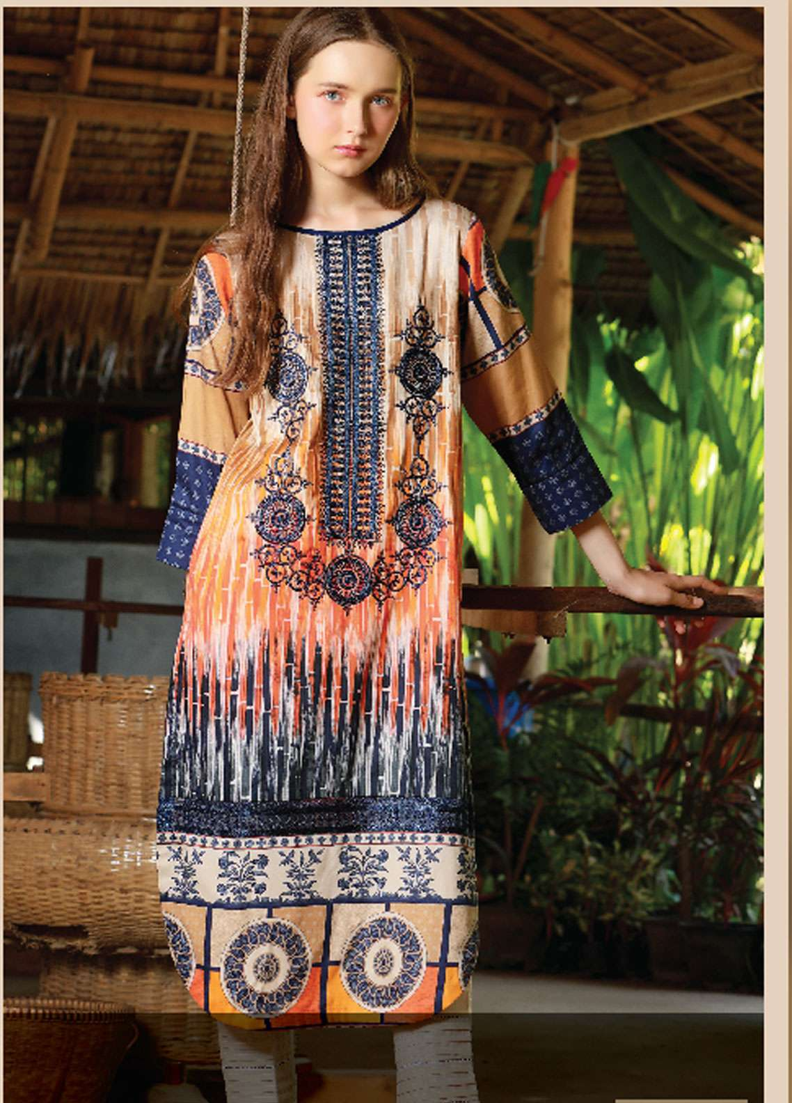 Lakhany Embroidered Cotton Unstitched Kurties LSM18WK 04 - Winter Collection