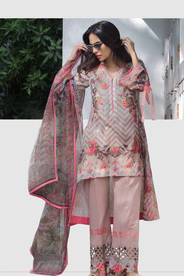 Sophia Sahar by LSM Embroidered Lawn Unstitched 3 Piece Suit LSS17E 101B