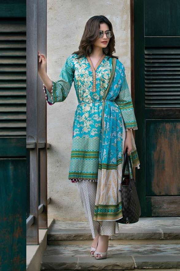 Sophia Sahar by LSM Embroidered Lawn Unstitched 3 Piece Suit LSS17E 404A