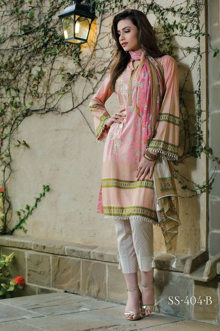 Sophia Sahar by LSM Embroidered Lawn Unstitched 3 Piece Suit LSS17E 404B