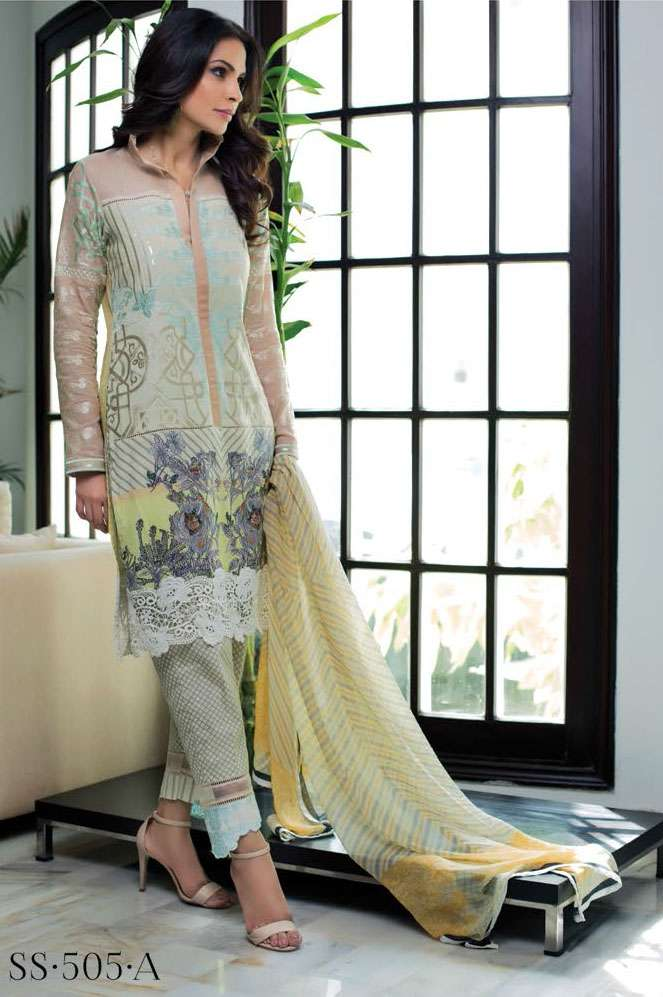 Sophia Sahar by LSM Embroidered Lawn Unstitched 3 Piece Suit LSS17E 505A
