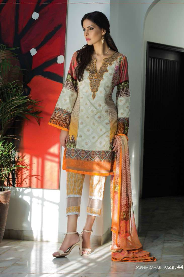 Sophia Sahar by LSM Embroidered Lawn Unstitched 3 Piece Suit LSS17E 606A