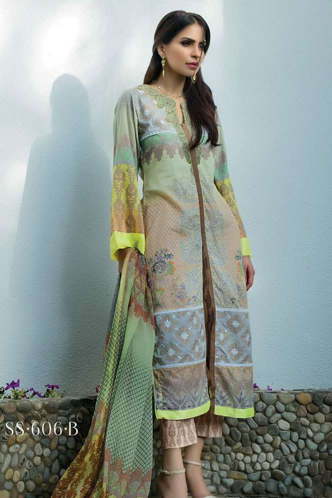 Sophia Sahar by LSM Embroidered Lawn Unstitched 3 Piece Suit LSS17E 606B