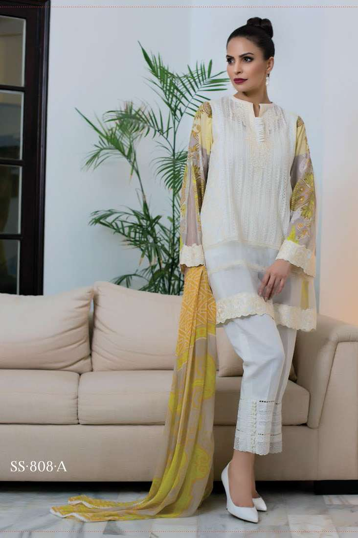 Sophia Sahar by LSM Embroidered Lawn Unstitched 3 Piece Suit LSS17E 808A