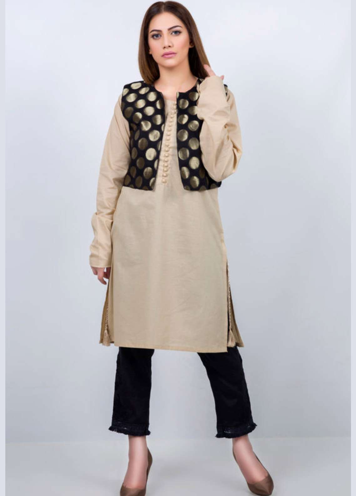 Kross Kulture Embroidered Stitched Kurtis KK-913 Skin