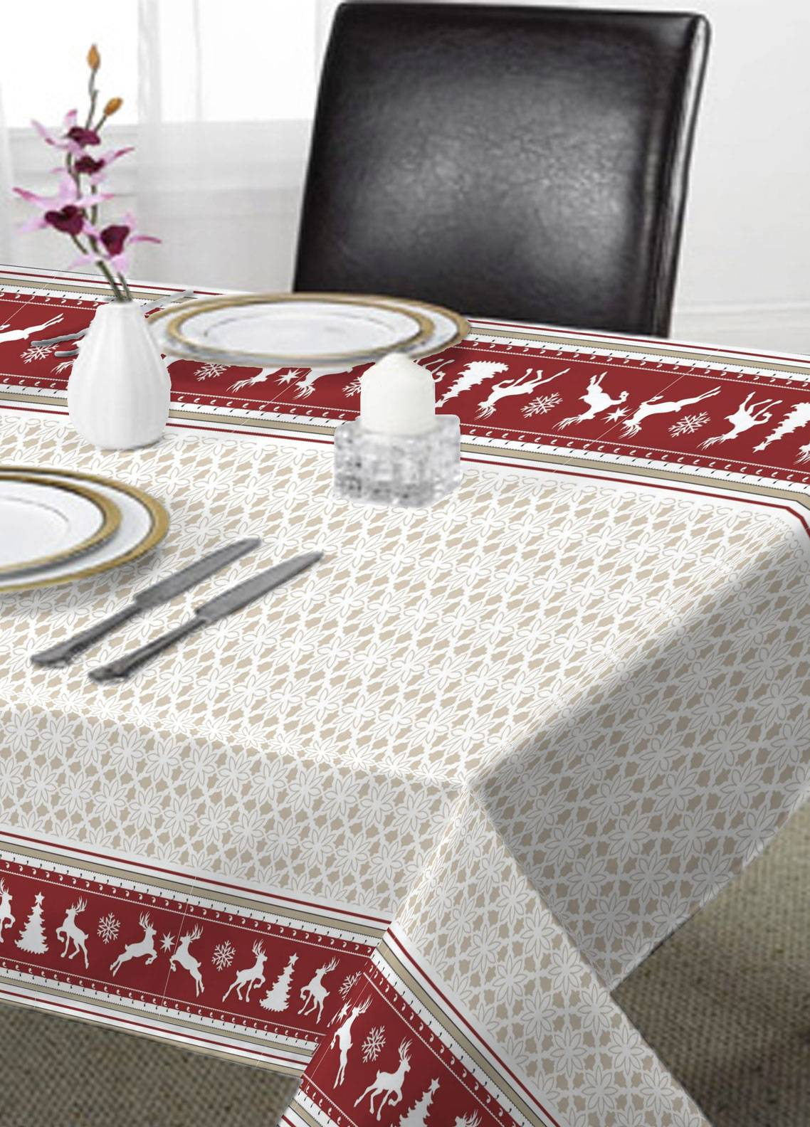 Maguari Textile Printed Cotton Table Upper Cover Mt1013