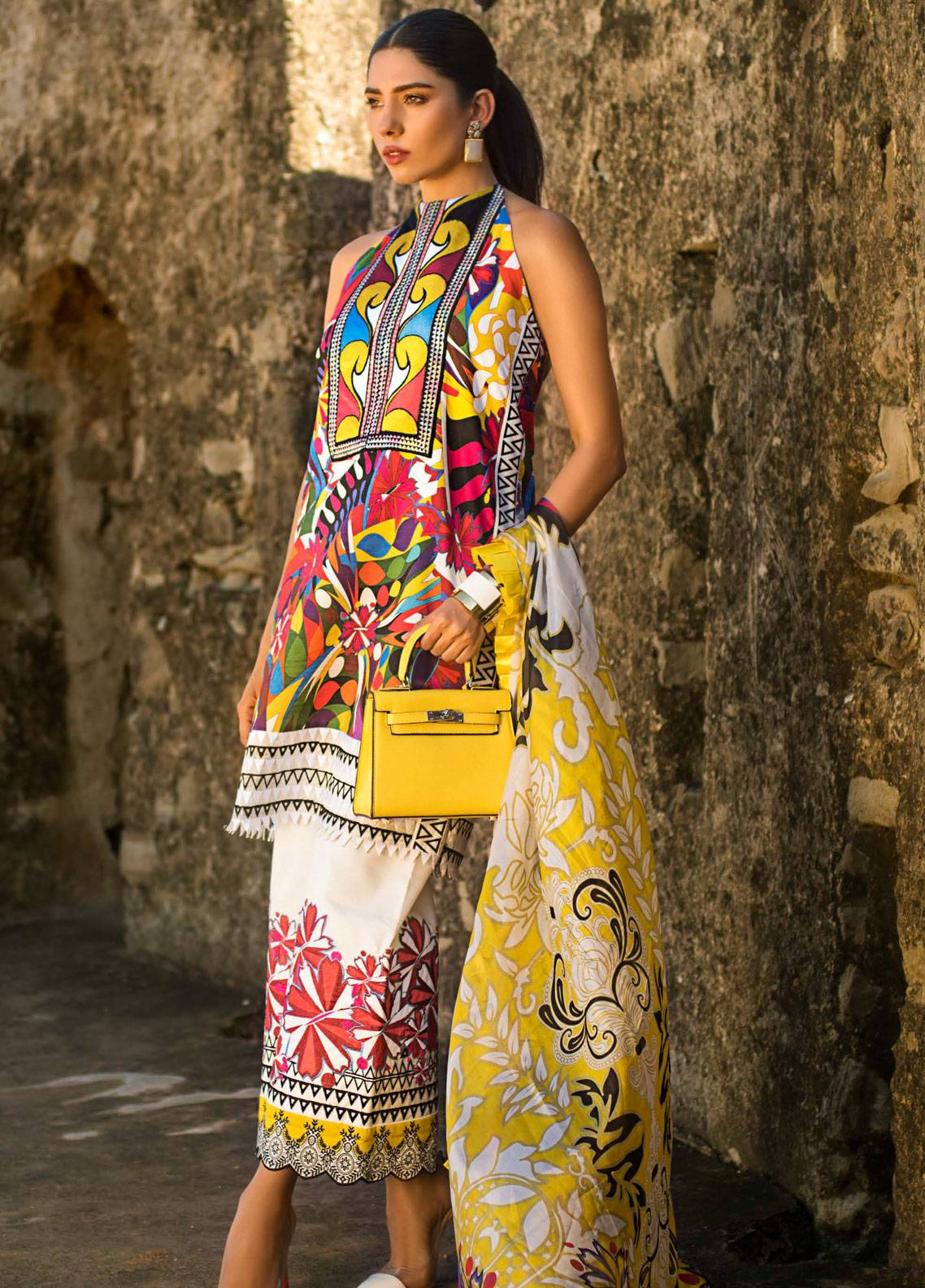 Maheen Karim by ZS Textile Embroidered Lawn Unstitched 3 Piece Suit MK19L 14 KALEIDOSCOPE - Spring / Summer Collection