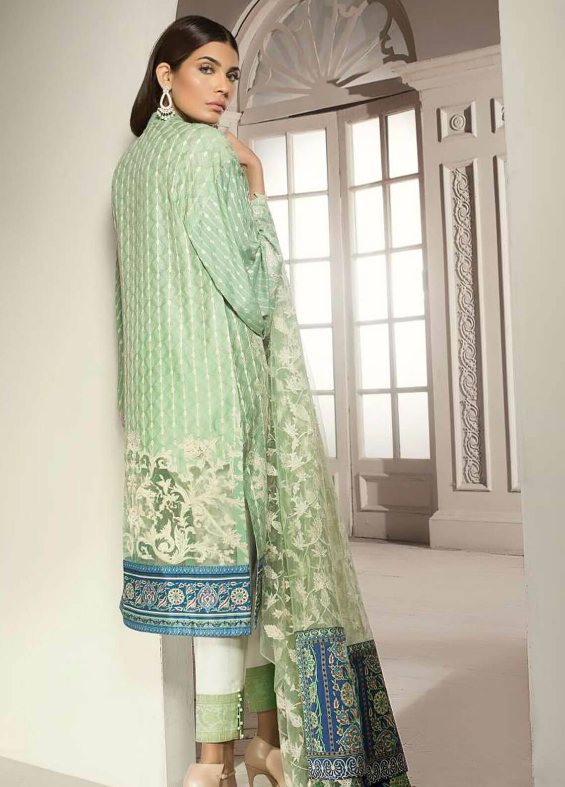 ba58c7e719 ... Mahgul by Al Zohaib Embroidered Khaadi Net Unstitched 3 Piece Suit  MG18F 08 - Formal Collection. < Previous · hover
