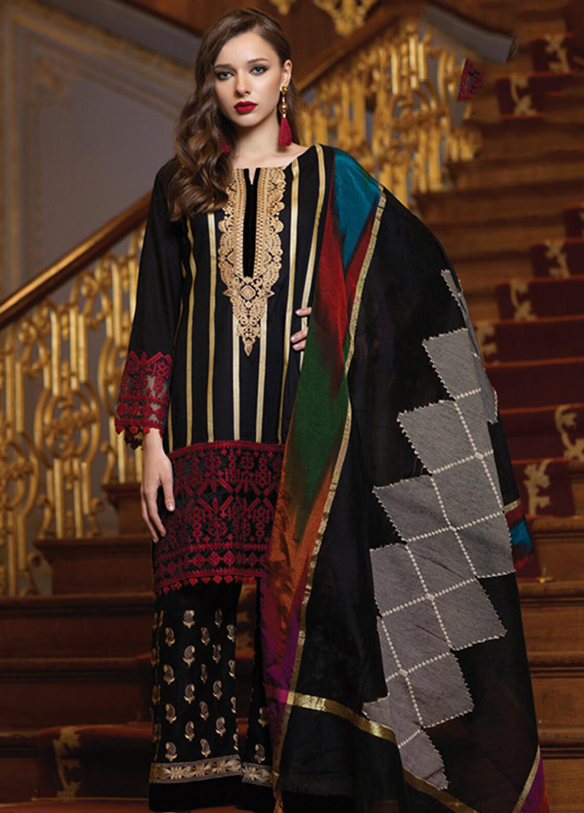 Mahiymaan By Al Zohaib Embroidered Lawn Unstitched 3 Piece Suit MAH19E 06 - Festive Collection
