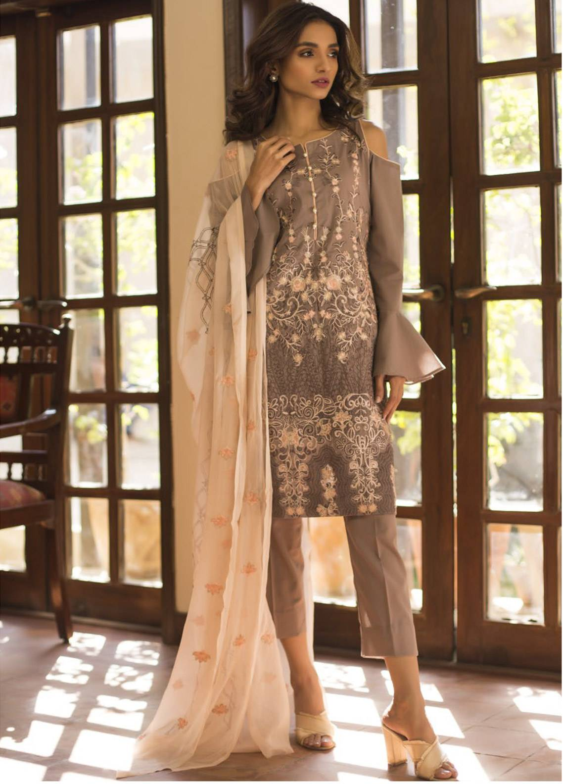 Maira Ahsan Embroidered Cotton Net Unstitched 3 Piece Suit MA19DE 02 - Designer Collection