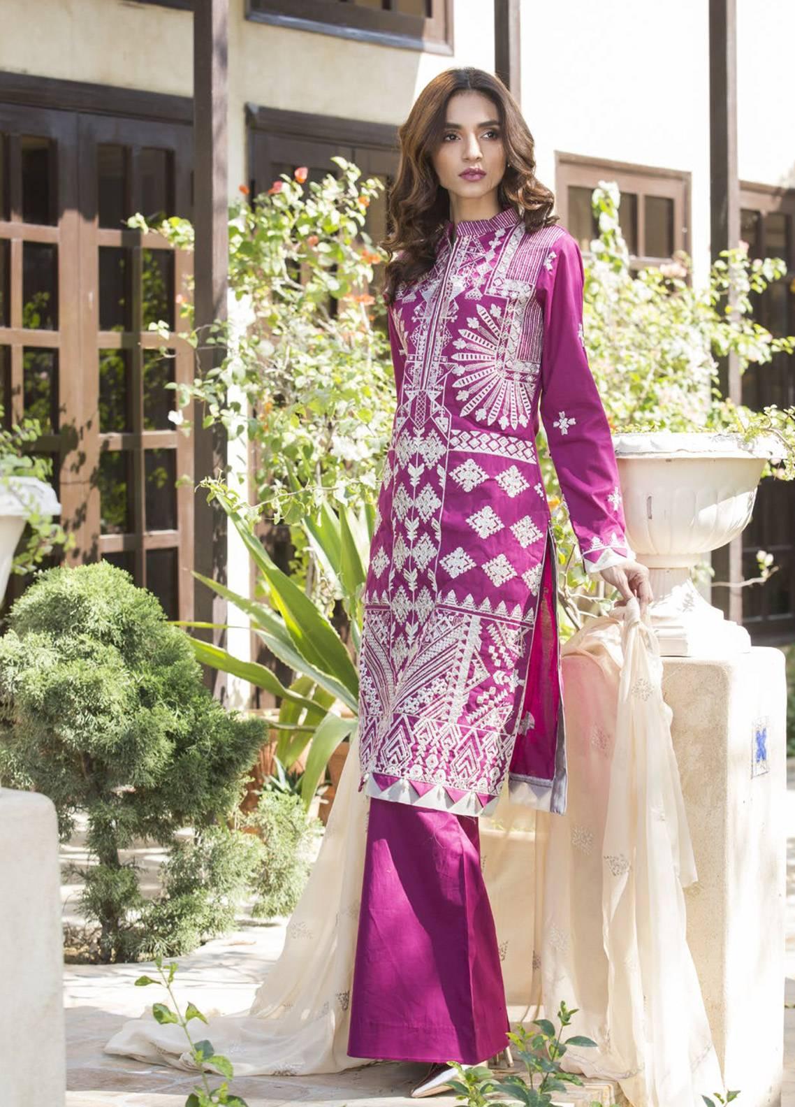 Maira Ahsan Embroidered Cotton Net Unstitched 3 Piece Suit MA19DE 04 - Designer Collection