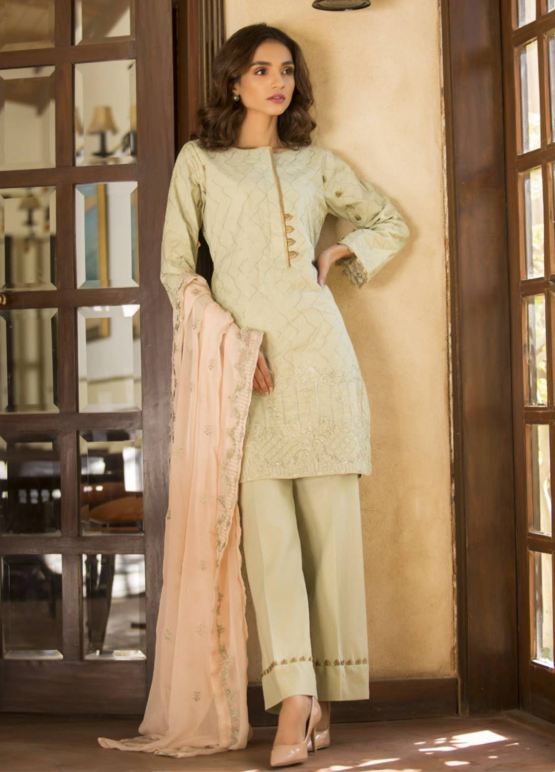 Maira Ahsan Embroidered Cotton Net Unstitched 3 Piece Suit MA19DE 05 - Designer Collection