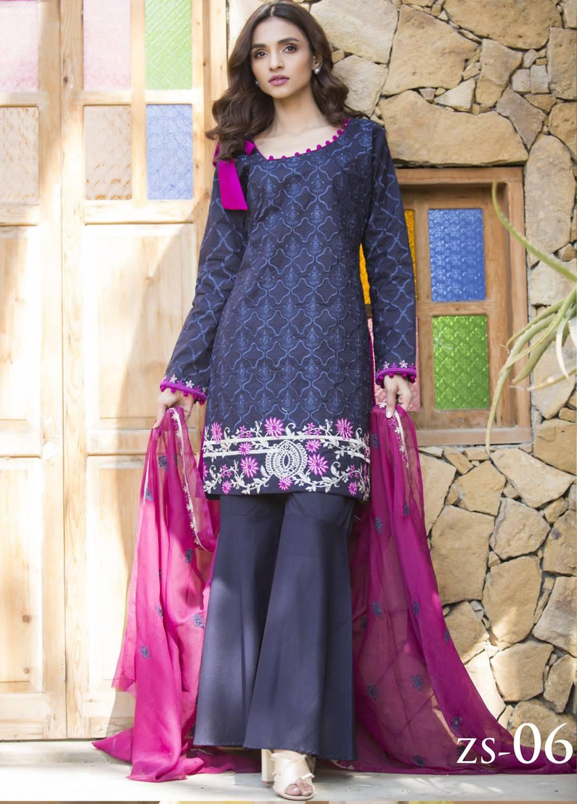 Maira Ahsan Embroidered Cotton Net Unstitched 3 Piece Suit MA19DE 06 - Designer Collection