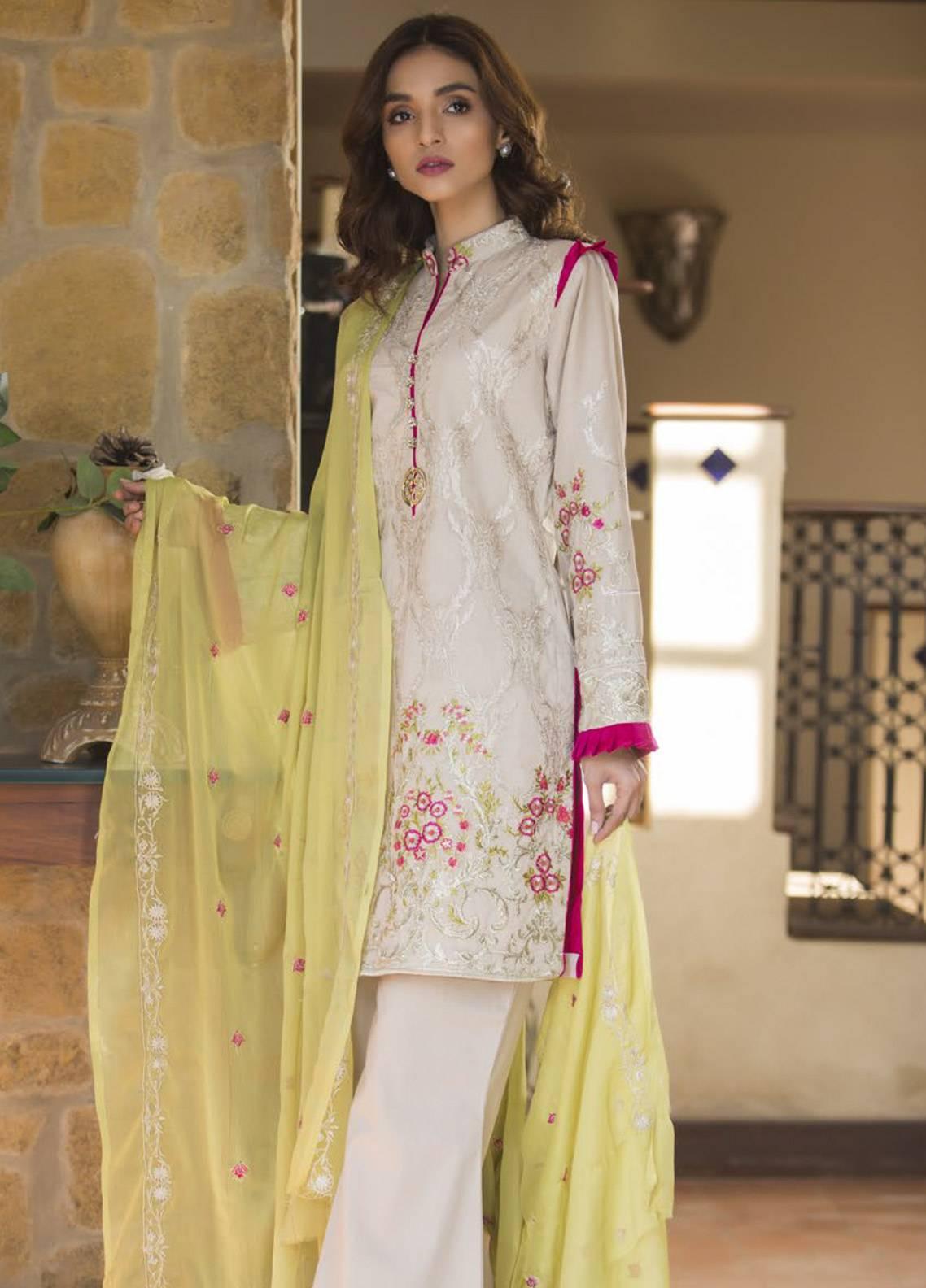 Maira Ahsan Embroidered Cotton Net Unstitched 3 Piece Suit MA19DE 07 - Designer Collection