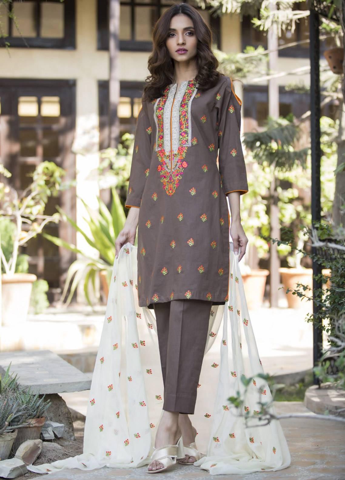Maira Ahsan Embroidered Cotton Net Unstitched 3 Piece Suit MA19DE 08 - Designer Collection