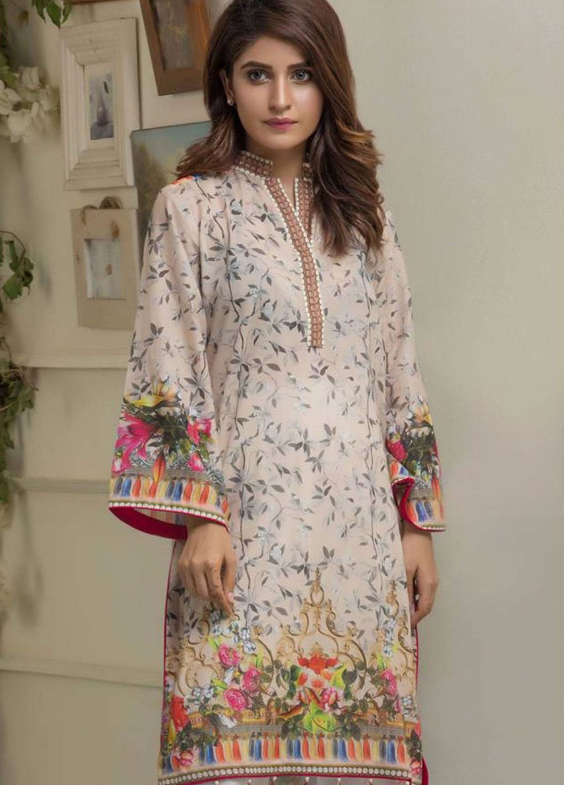 Maira Ahsan Printed Lawn Unstitched Kurties MAD19TC V14 03A - Mid Summer Collection