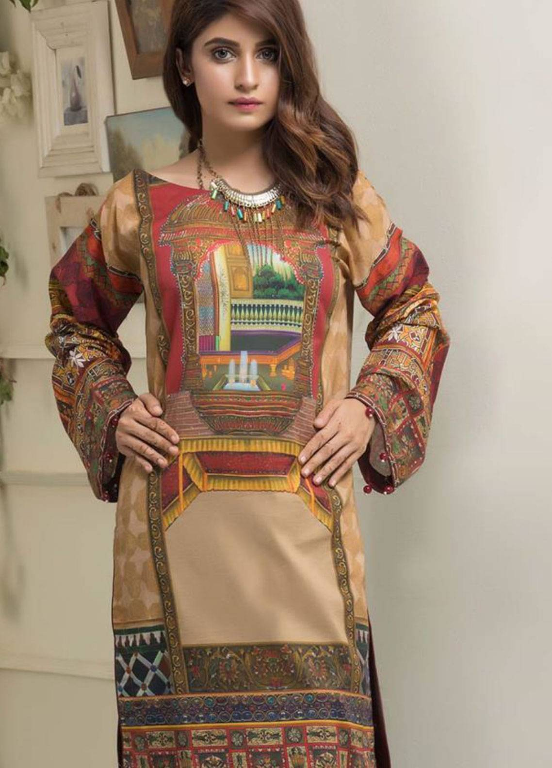Maira Ahsan Printed Lawn Unstitched Kurties MAD19TC V14 07 - Mid Summer Collection