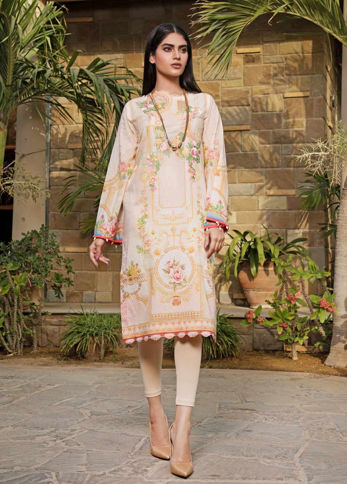 Malhar Florence Embroidered Lawn Unstitched Kurties MLF19K 04 - Mid Summer Collection