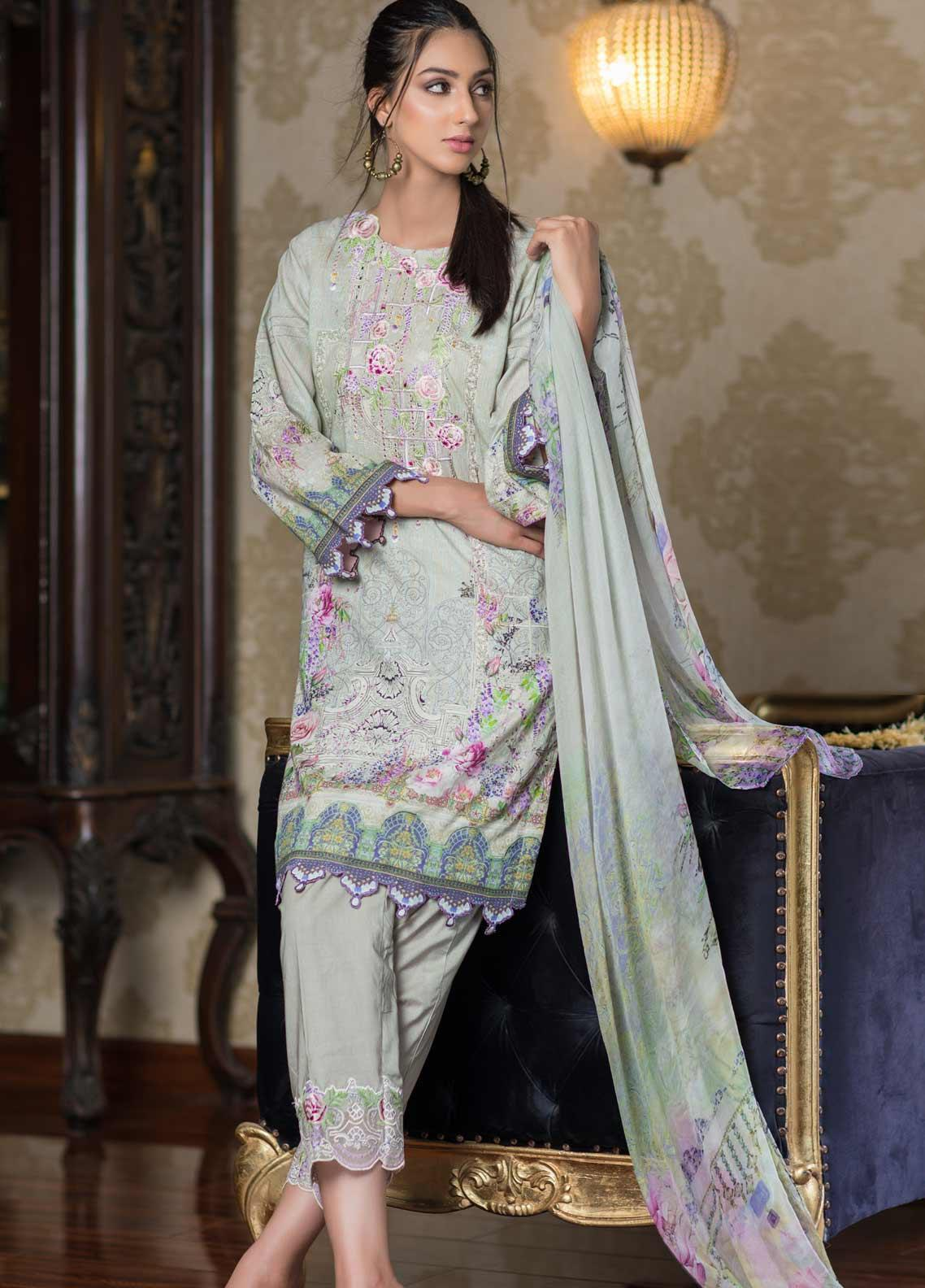 Malhar Embroidered Lawn Unstitched 3 Piece Suit ML19EL 02 - Mid Summer Collection