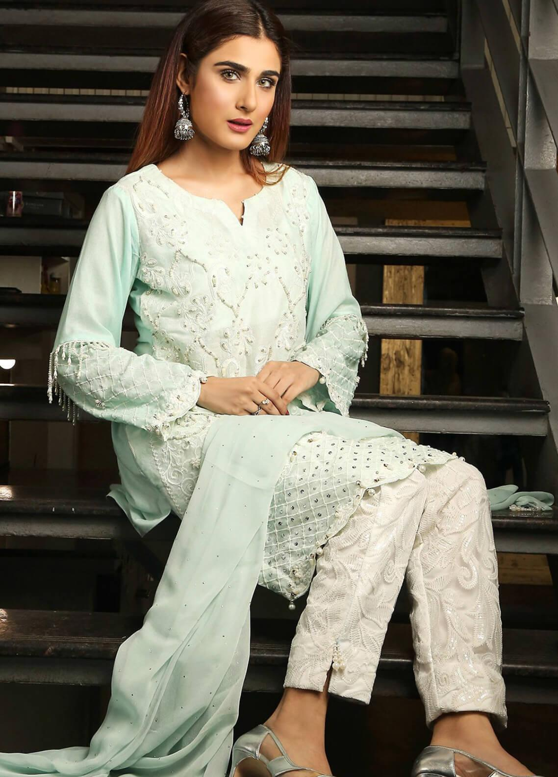 Bright Latest Le Chiffon Designer Collection Wear Dress Pakistani Shalwar Kameez Suit Selected Material Women's Clothing