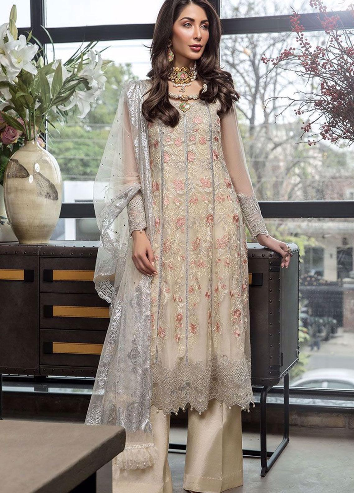 Manara Embroidered Chiffon Unstitched 3 Piece Suit MNA19C 005 ISABELLE - Eid Collection