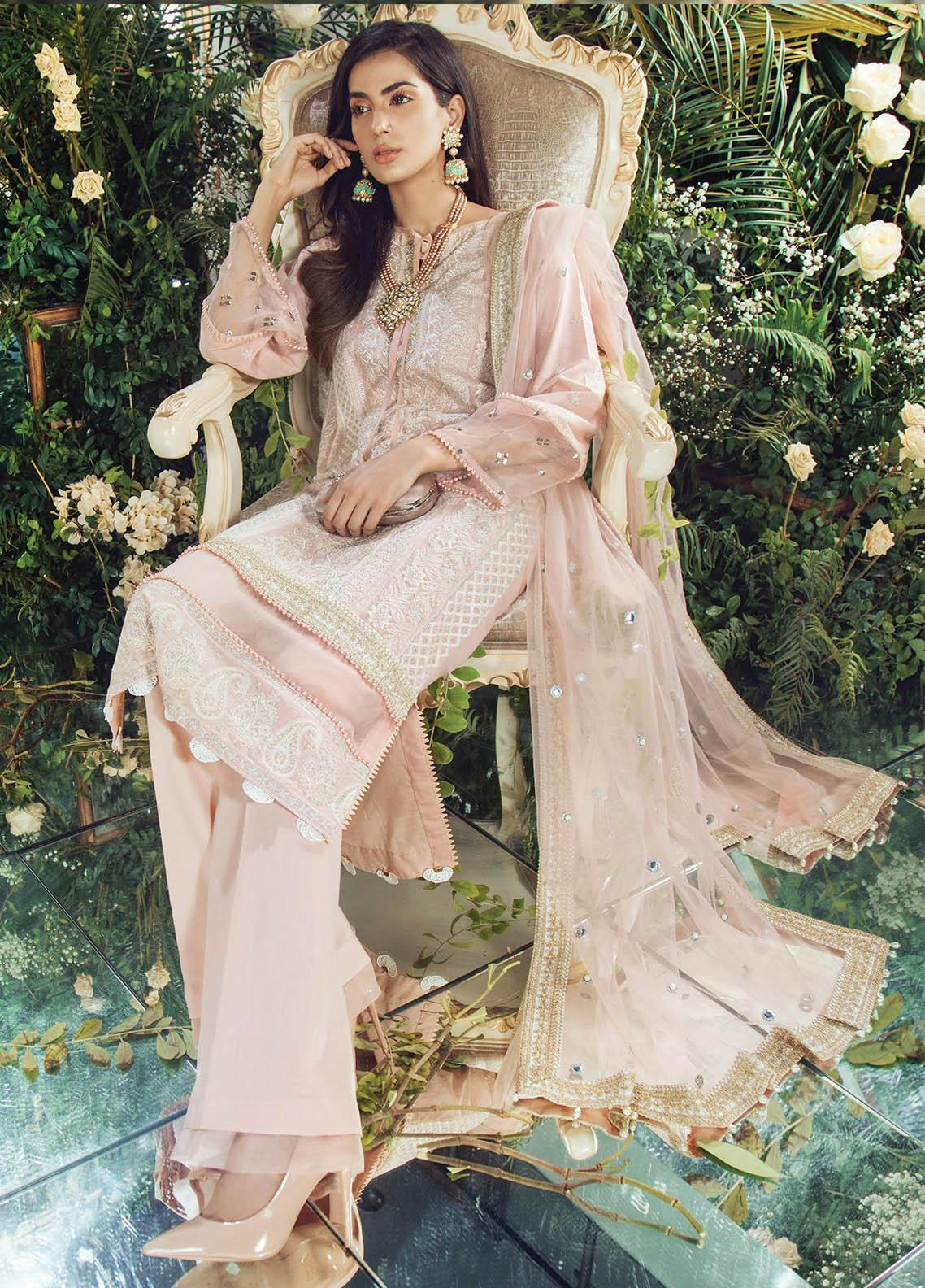 Manara Embroidered Lawn Unstitched 3 Piece Suit MNA19F 05 EVORA - Festive Collection
