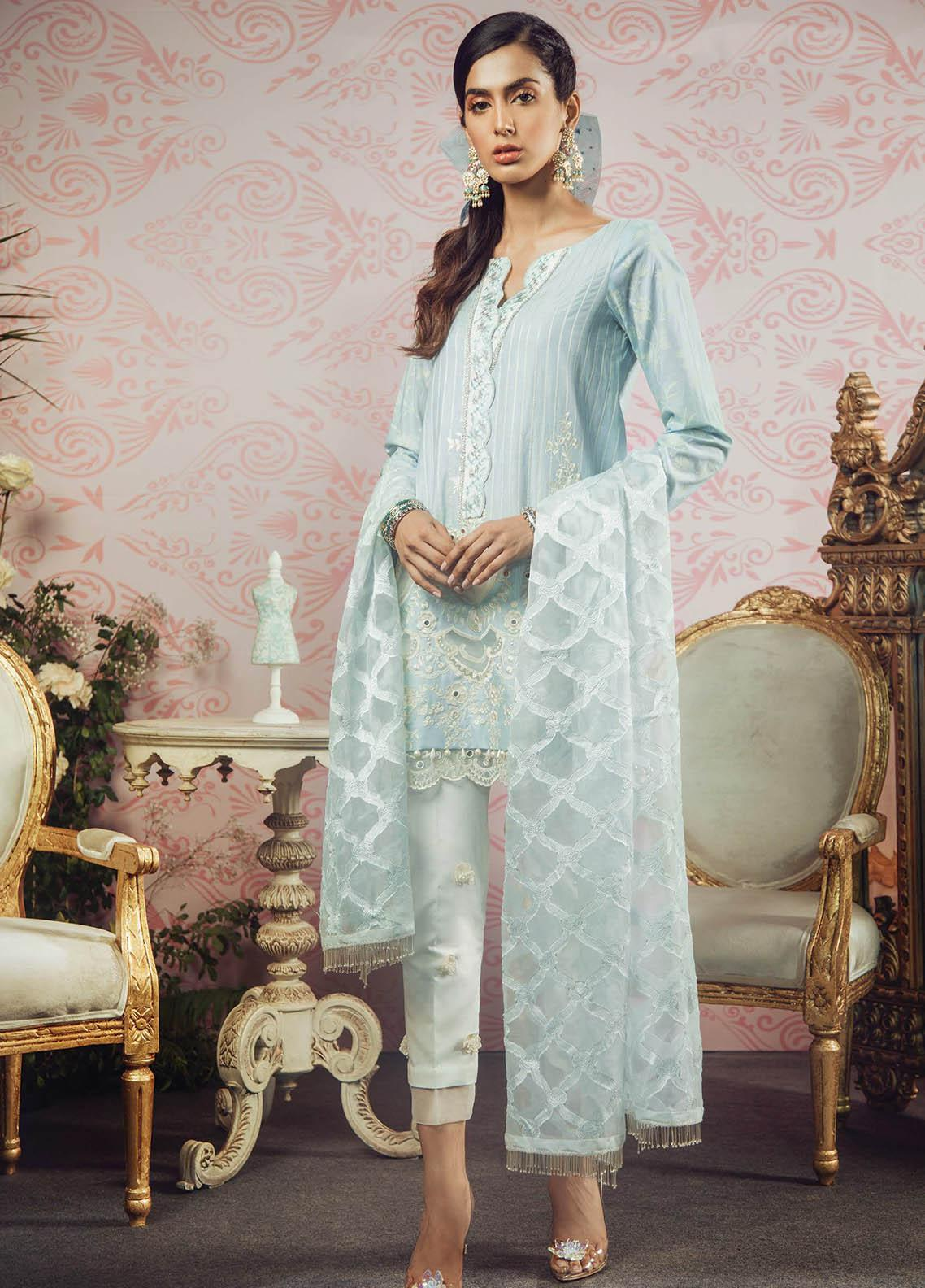 Manara Embroidered Lawn Unstitched 3 Piece Suit MNA19F 06 MARBELLA - Festive Collection