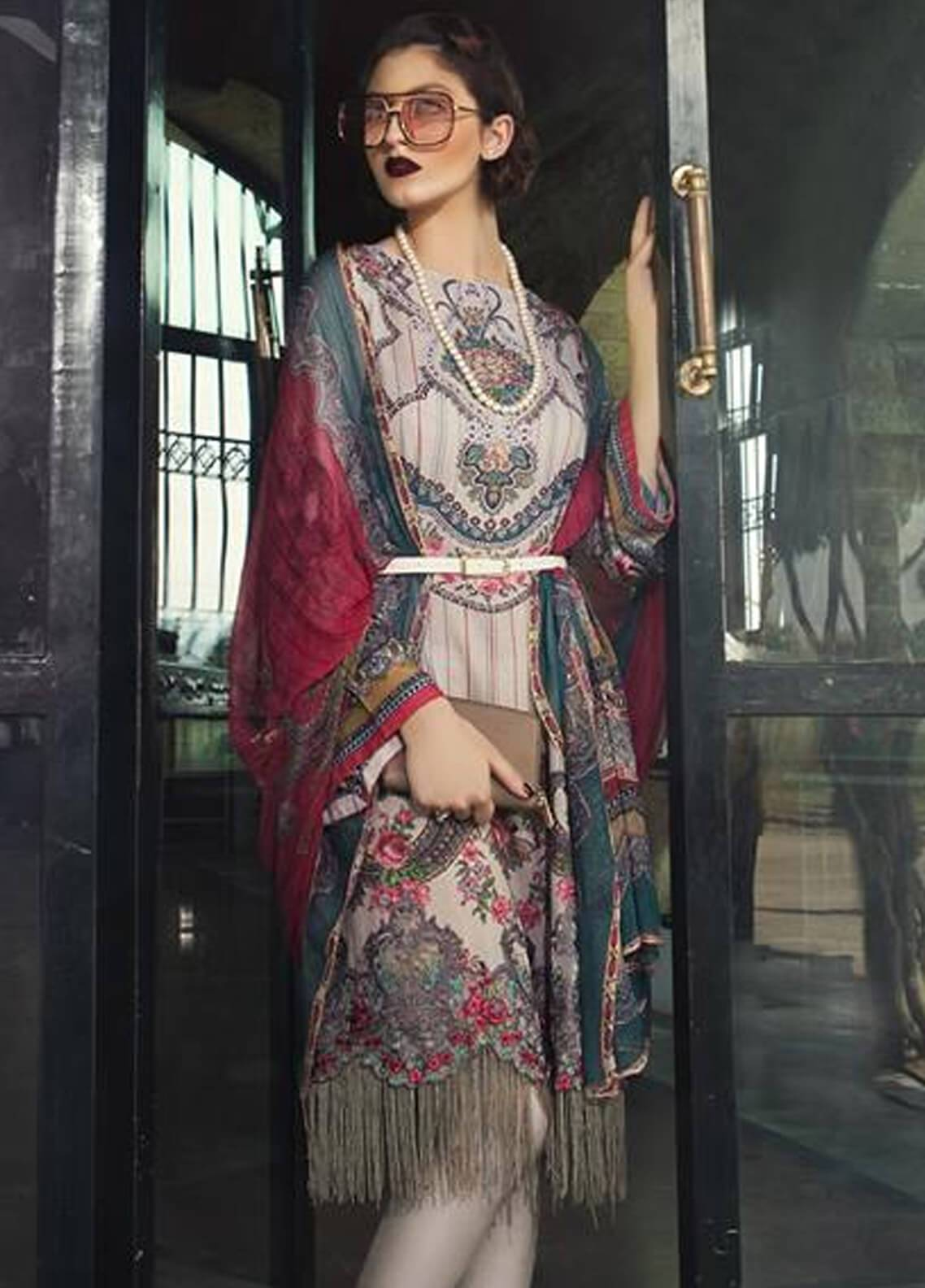 Maria B Embroidered Karandi Unstitched 3 Piece Suit MB18MP 409A - Fall Winter Collection