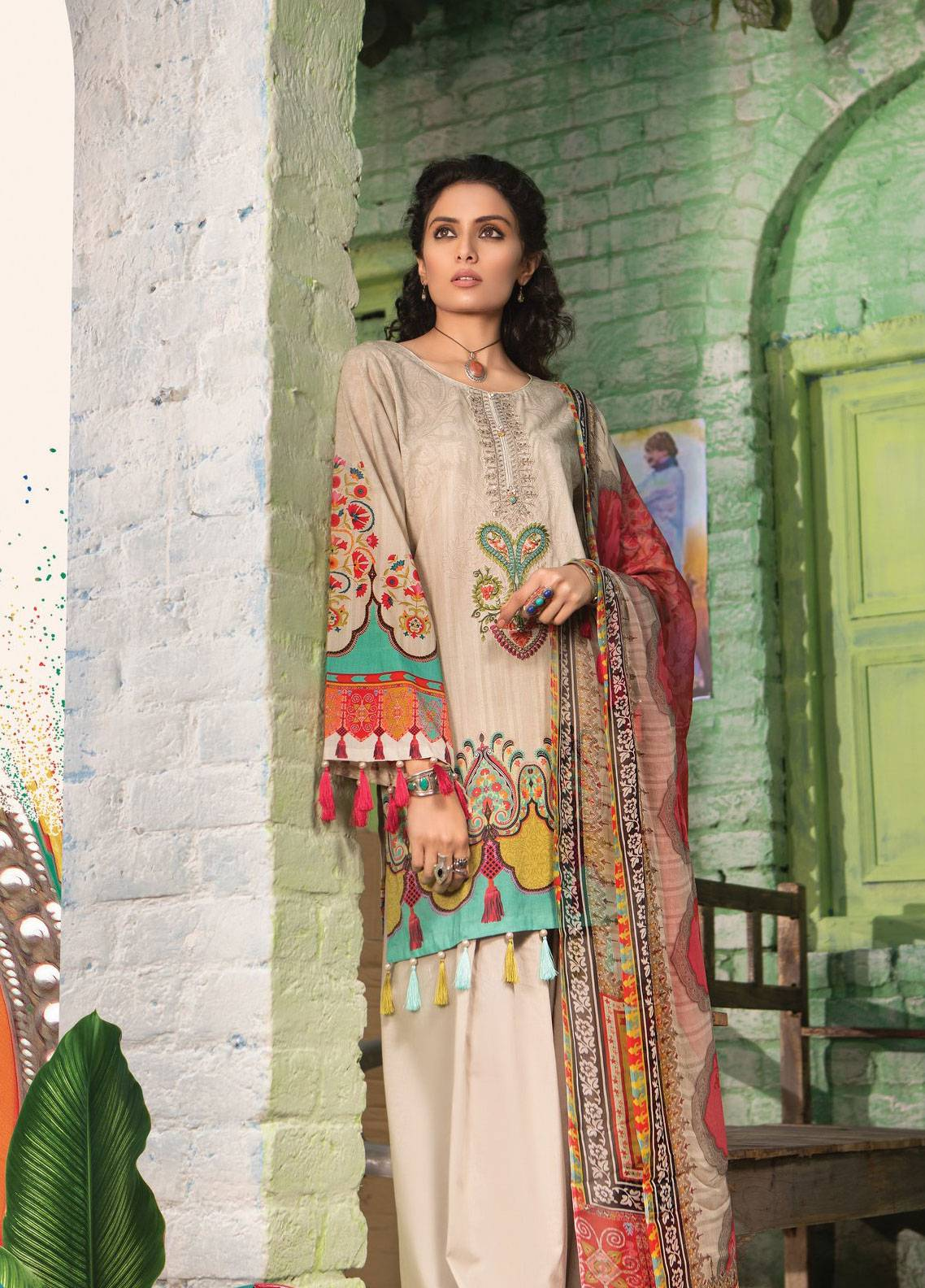 6bdcd413d7 Maria B M.Prints Embroidered Lawn Unstitched 3 Piece Suit MBP19L 10A -  Spring / Summer Collection