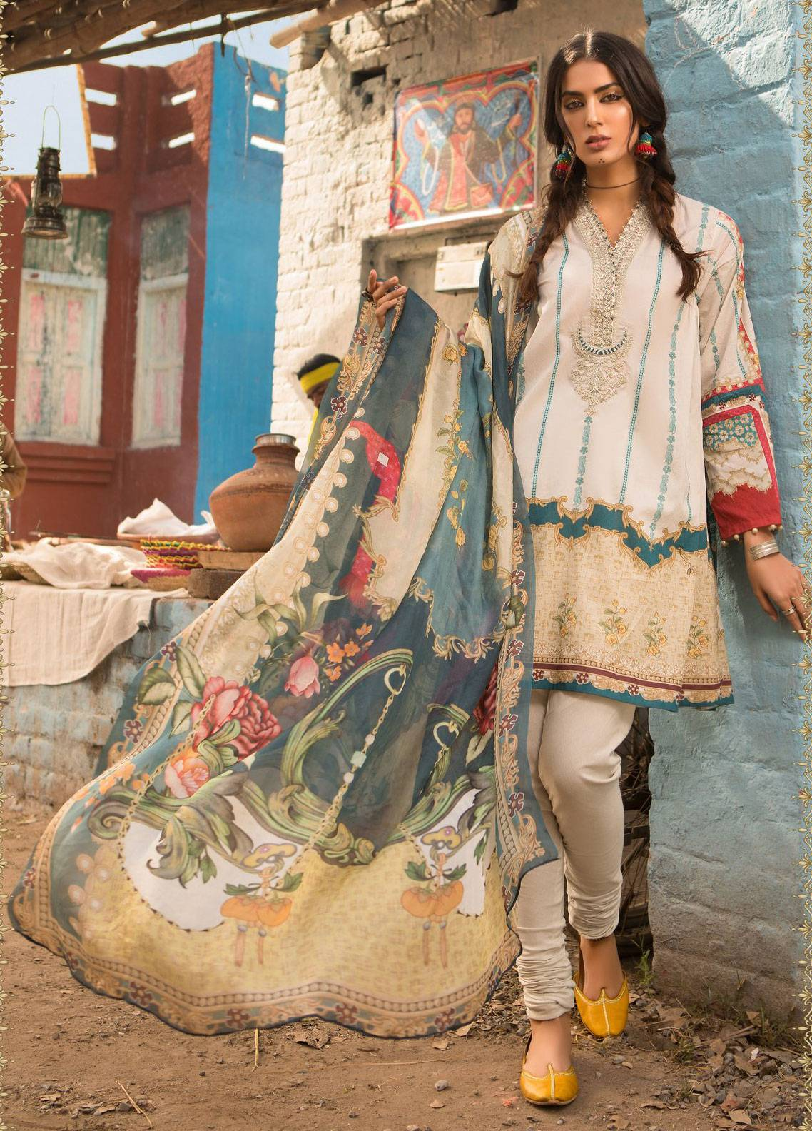 3528cb0fdb Maria B M.Prints Embroidered Lawn Unstitched 2 Piece Suit MBP19L 11B -  Spring / Summer Collection