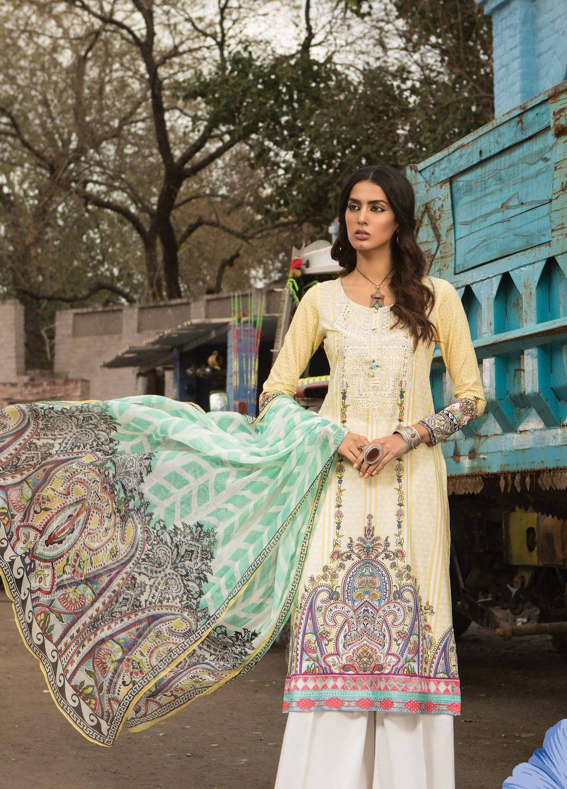 3f9c945878 Maria B M.Prints Embroidered Lawn Unstitched 2 Piece Suit MBP19L 6A - Spring  / Summer Collection