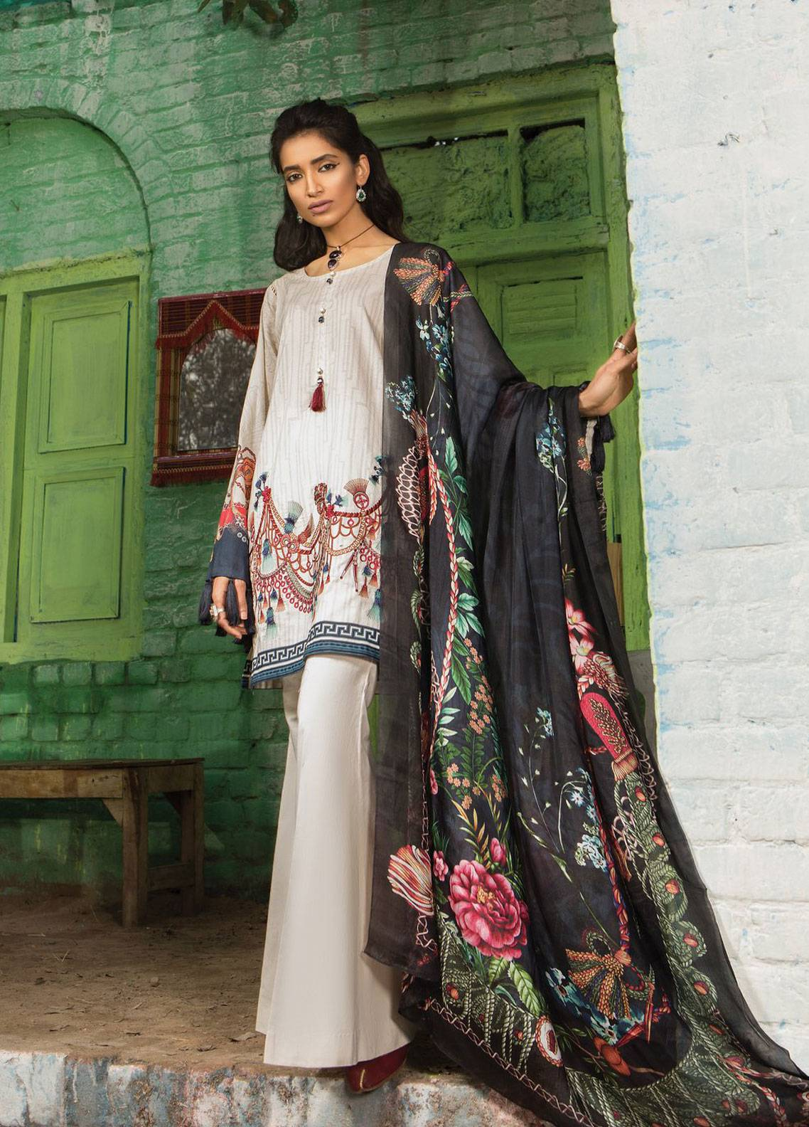 ede9f2e198 Maria B M.Prints Embroidered Lawn Unstitched 3 Piece Suit MBP19L 7A -  Spring / Summer Collection