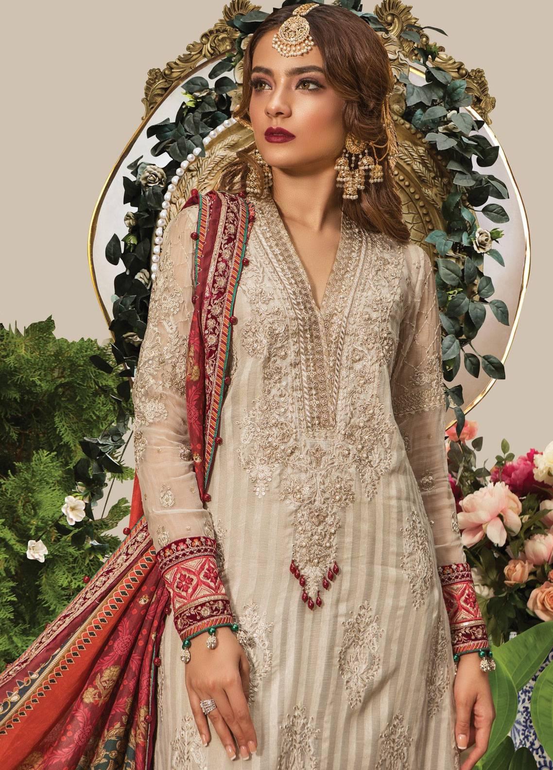 68ab89b9e3 Maria B: Maria B Lawn 2019, Chiffon Suits Collection - Maria B ...