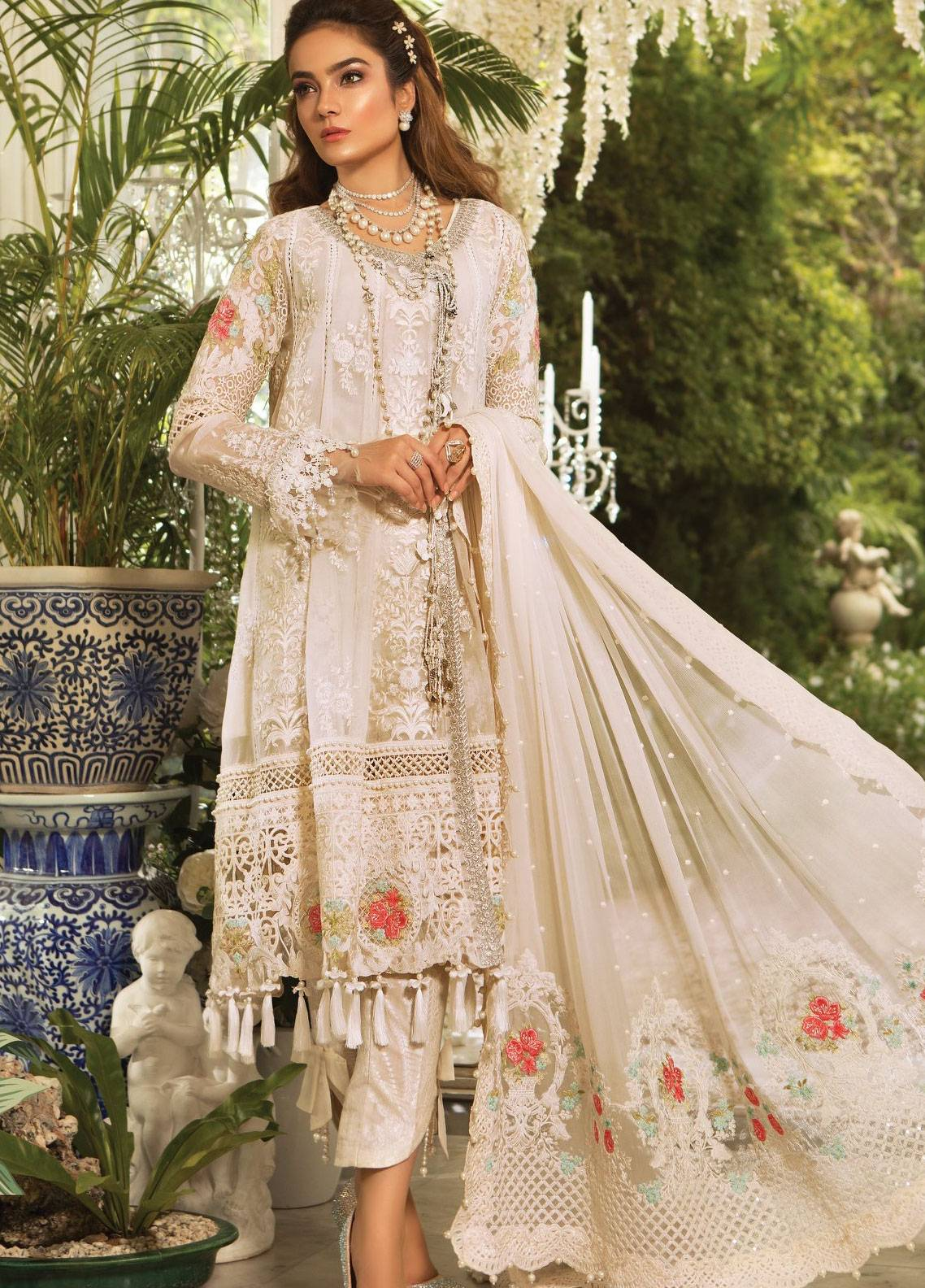 401f9b900c Maria B Embroidered Organza Unstitched 3 Piece Suit MB19E 1604 - Eid  Collection