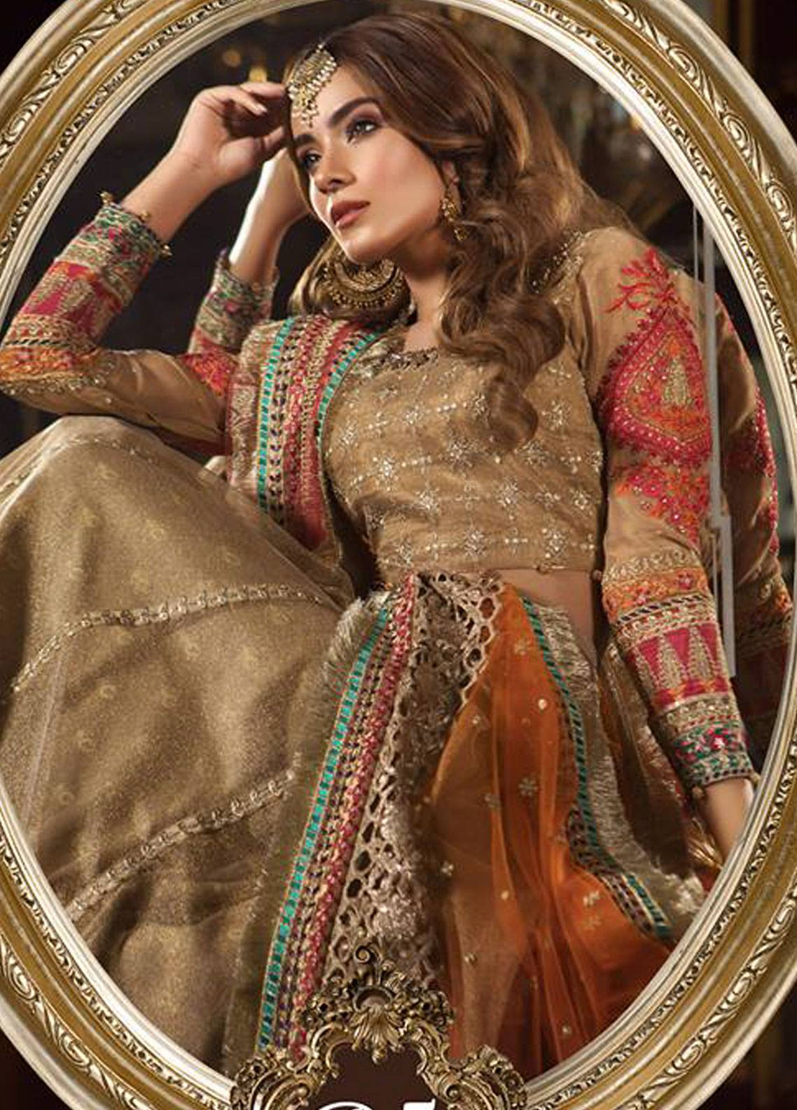 56cb5132f9 Maria B Embroidered Zari Net Unstitched 3 Piece Suit MB18-W1 05 - Wedding  Collection