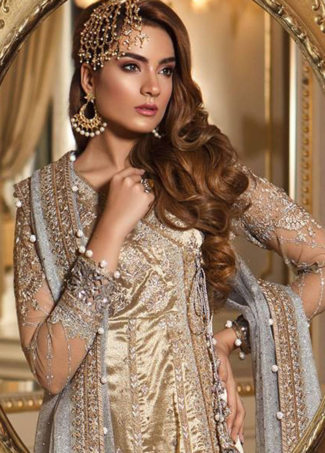34c914e4fe Maria B Embroidered Organza Unstitched 3 Piece Suit MB18-W1 10 - Wedding  Collection