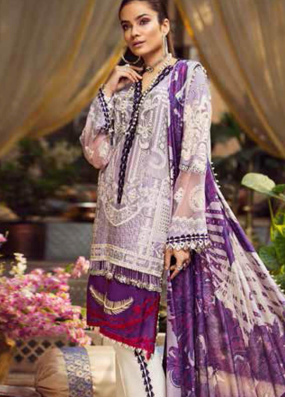 Maryam Hussain Embroidered Lawn Unstitched 3 Piece Suit MRH19F 03 NUR - Festive Collection