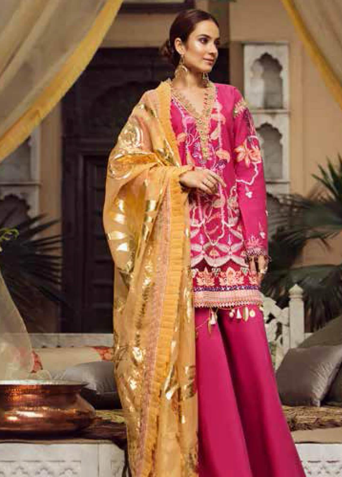 Maryam Hussain Embroidered Lawn Unstitched 3 Piece Suit MRH19F 06 BAHAR - Festive Collection