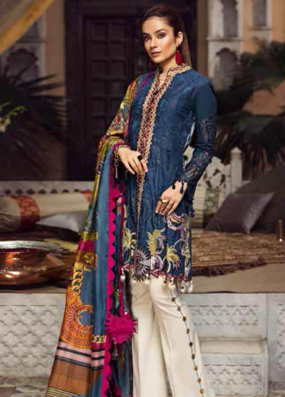 Maryam Hussain Embroidered Lawn Unstitched 3 Piece Suit MRH19F 07 FALAK - Festive Collection