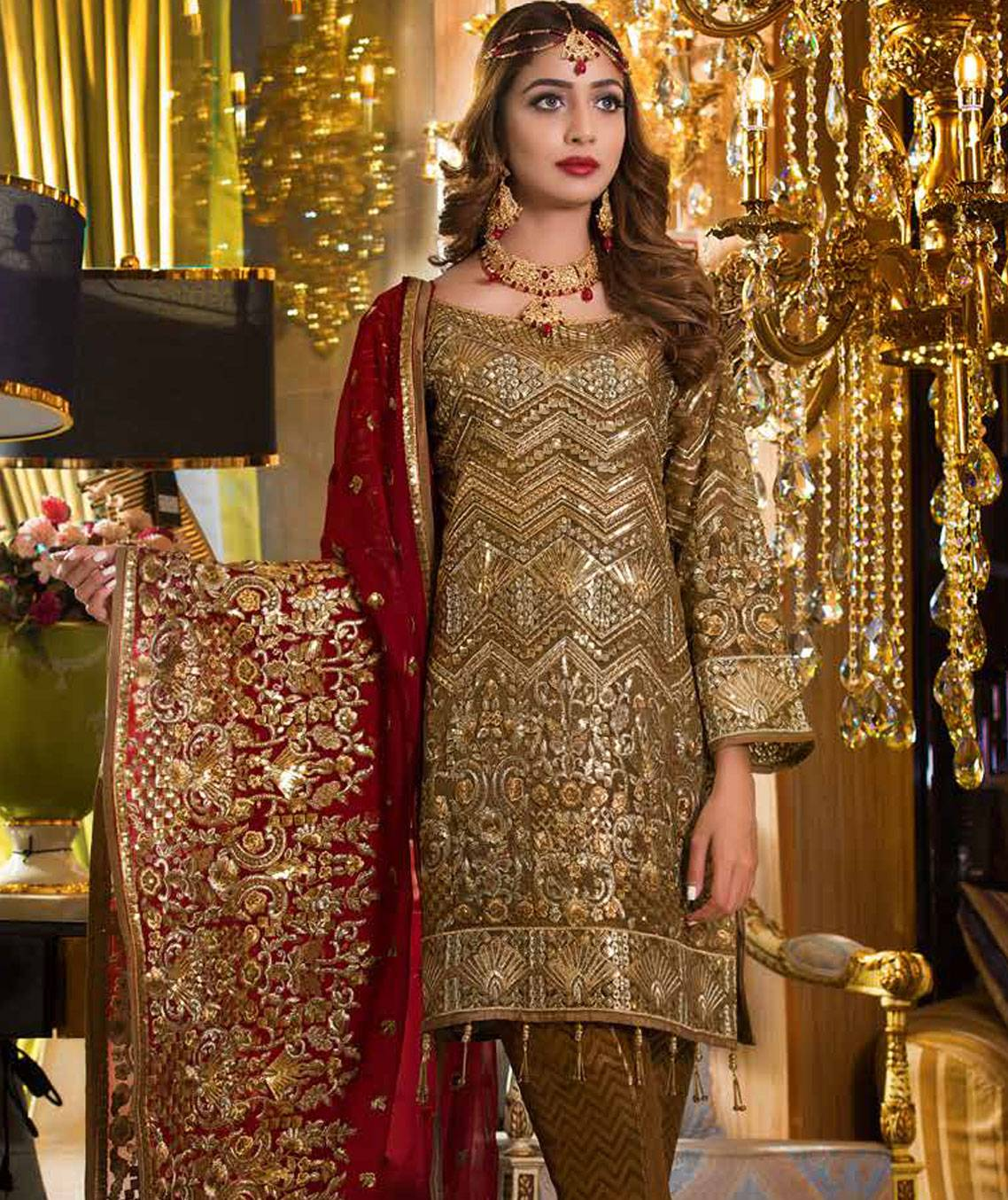0ba8411659 Freesia by Maryum N Maria Embroidered Chiffon Unstitched 3 Piece Suit  MNM18EC 10 - Luxury Collection