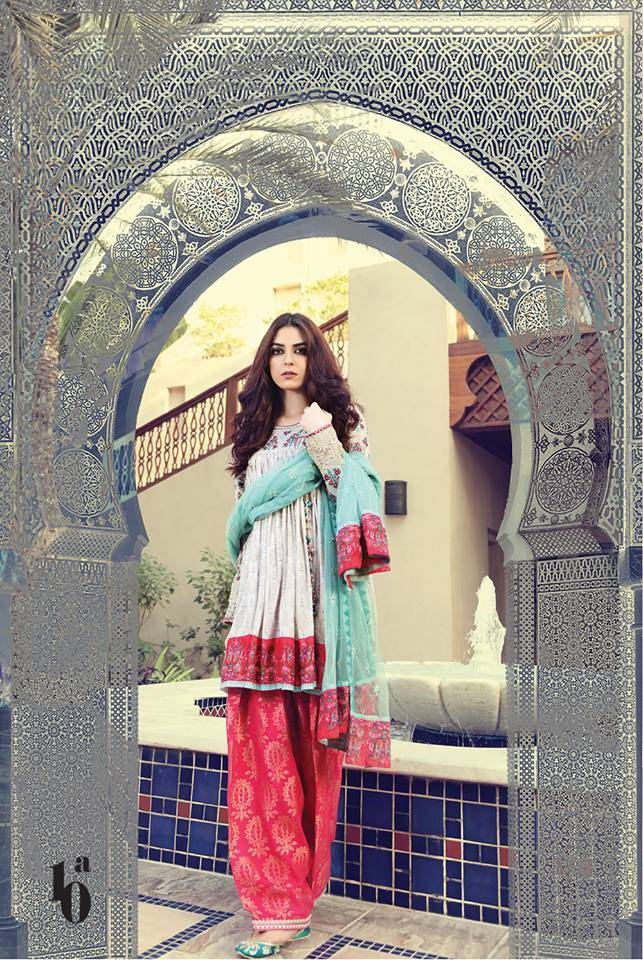 Maria B Embroidered Lawn Unstitched 3 Piece Suit MB17L 10A