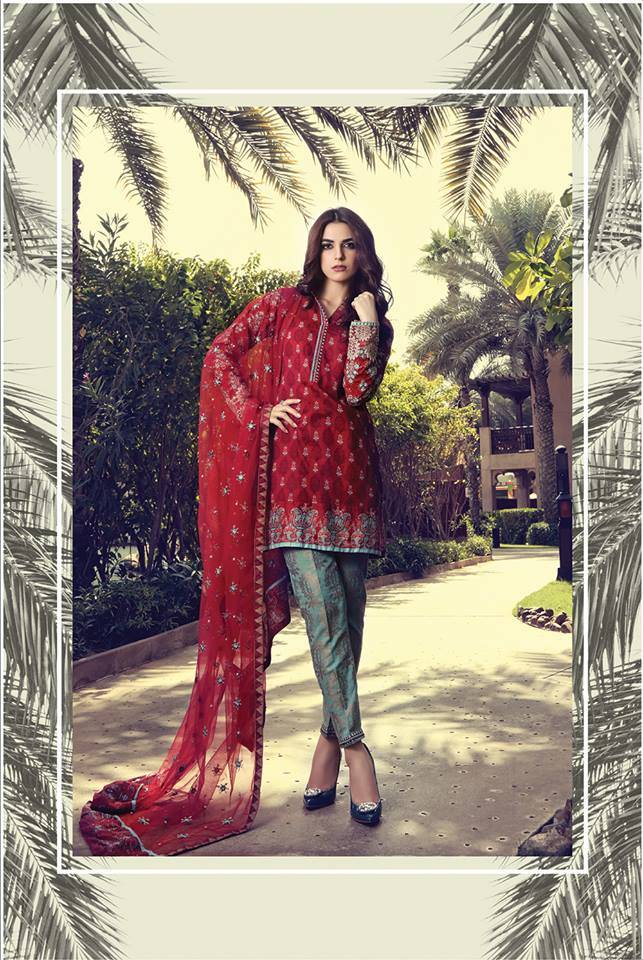 Maria B Embroidered Lawn Unstitched 3 Piece Suit MB17L 10B