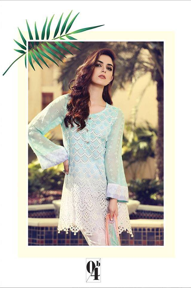 Maria B Embroidered Lawn Unstitched 3 Piece Suit MB17L 4B