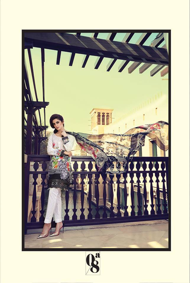 Maria B Embroidered Lawn Unstitched 3 Piece Suit MB17L 8A