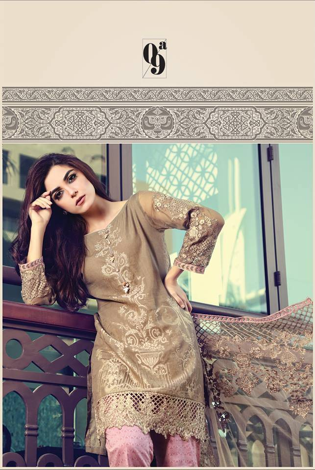 Maria B Embroidered Lawn Unstitched 3 Piece Suit MB17L 9A